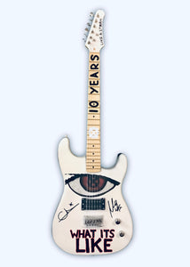 """The End Of The Beginning""  10 YEAR Commemorative Painted/Signed Guitars"