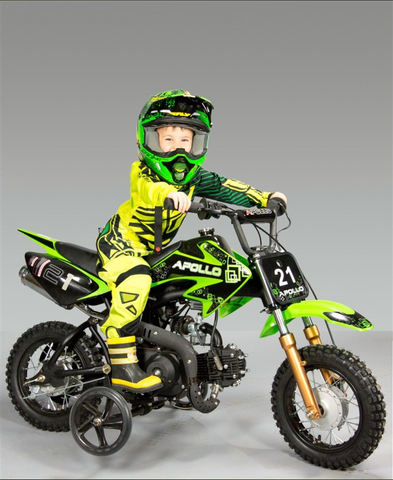 DB-21 Apollo Dirt Bike Vitacci 70cc Belmonte Bikes green color dirt bike