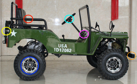 Icebear Thunderbird 125cc Mini Jeep Coolster 4 wheeler ATV kids Mini army jeep EGL