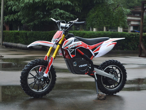 ELECTRIC DIRT BIKE MOTOCROSS 500 WATTS 24 VOLT in RED/WHITE