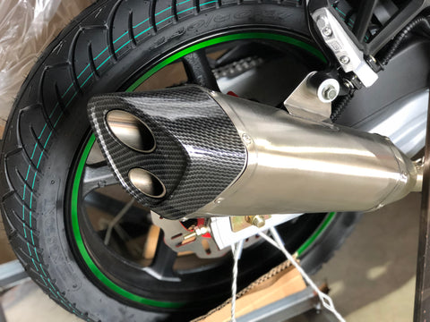 DF250RTS carbon fiber exhaust performance pipe. DF250RTS X22R motorcycle exhaust