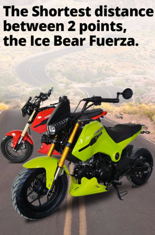 icebear x19r fuerza 125cc 4-speed manual street legal 125cc motorcycle in USA belmonte bikes