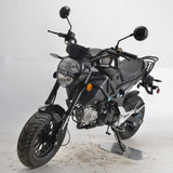 Boom SR3 BD125-8 front view monster 125cc motorcycle black