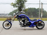 DongFang DF250RTF Mini Chopper Motorcycle Blue Side