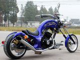 DongFang DF250RTF Mini Chopper Motorcycle Blue Rear