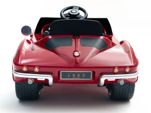 1963 Corvette Stingray 12V Electric Toy RC Car - Red