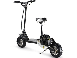 Premium 49cc Gas Power Stand Up Scooter Board with Seat - 3 Speed