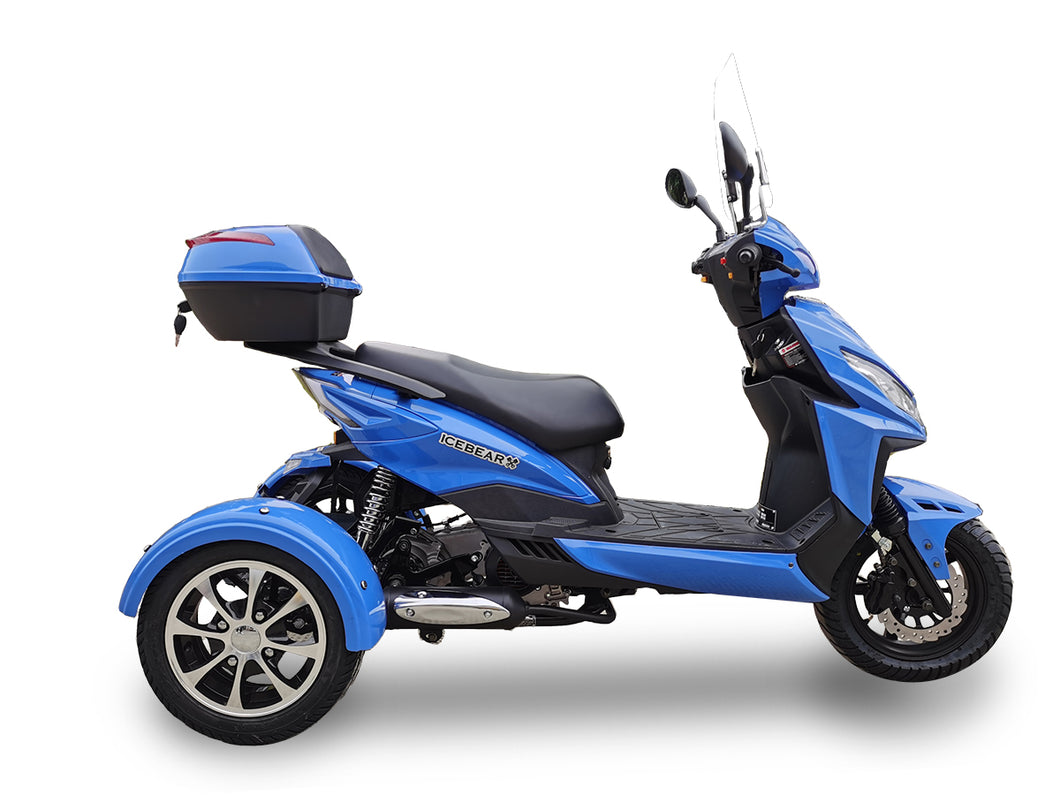 2020 IceBear Mojo Magic 150cc Moped Trike Scooter - PST150-9Z