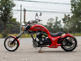 DongFang DF250RTF Mini Chopper Motorcycle Red Side