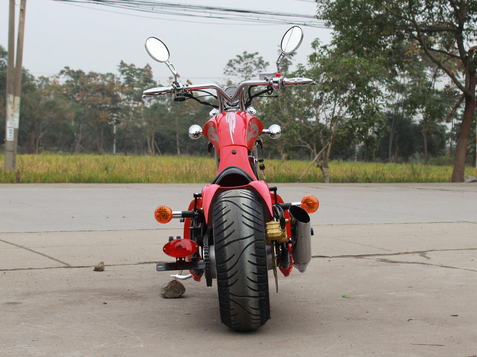 DongFang DF250RTF Mini Chopper Motorcycle Red Rear