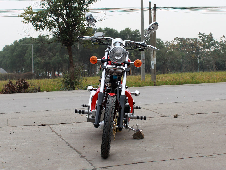 DongFang DF250RTF Mini Chopper Motorcycle Red Front
