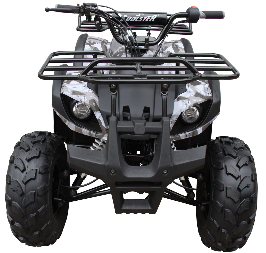 Coolster ATV3125XR8U ATV 125cc ATV3125XR8US 4 wheeler quad for cheap white and black