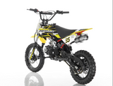 DB-35 Apollo Dirt Bike vitacci 125cc roketa yellow back view