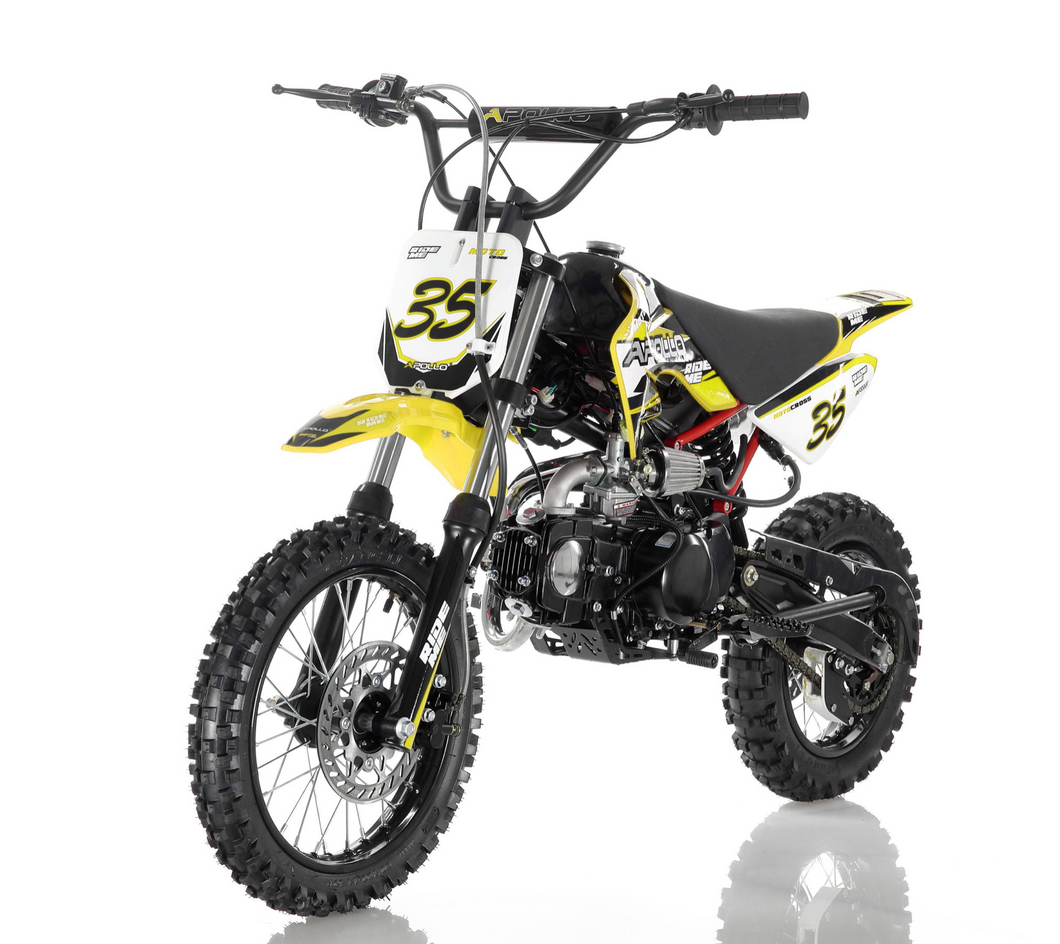 DB-35 Apollo Dirt Bike vitacci 125cc roketa yellow