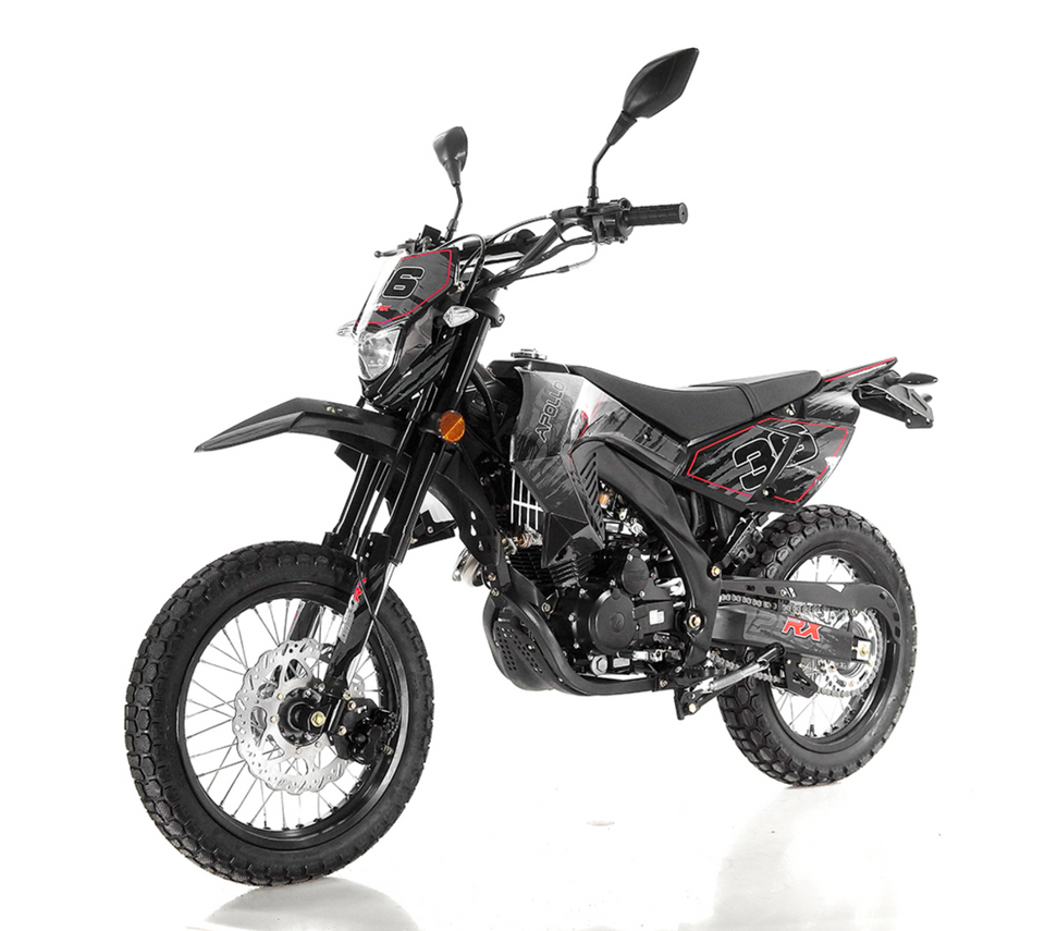 DB-34 deluxe apollo dirt bike street legal 250cc Black side view
