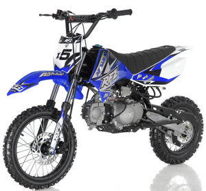 DB-x5 125cc manual transmission apollo dirt bike pit bike motocross vitacci motorcycles blue