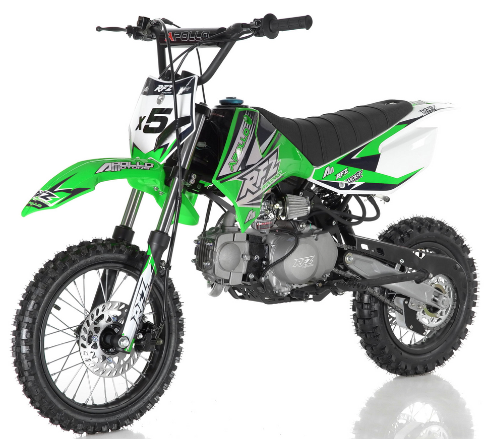 DB-x5 125cc manual transmission apollo dirt bike pit bike motocross vitacci motorcycles green