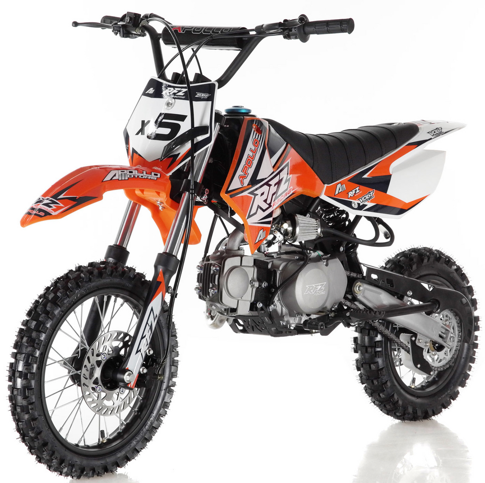 DB-x5 125cc manual transmission apollo dirt bike pit bike motocross vitacci motorcycles orange