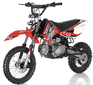 DB-x5 125cc manual transmission apollo dirt bike pit bike motocross vitacci motorcycles red