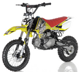 DB-x5 125cc manual transmission apollo dirt bike pit bike motocross vitacci motorcycles yellow