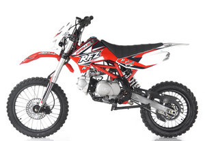 2019 RFZ Apollo X19 125cc Motocross Dirt Bike - 4-Speed Manual DB-X19
