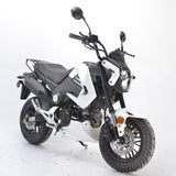 BD125-15 boom motorcycle Honda grom clone front view white