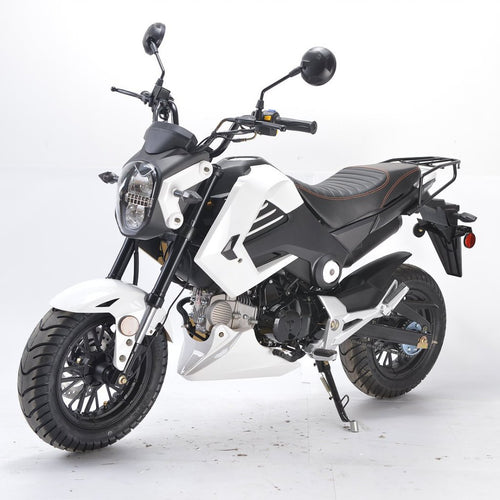 BD125-15 boom motorcycle Honda grom clone side view white