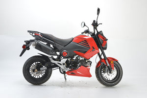 BD125-15 boom motorcycle Honda grom clone side view red