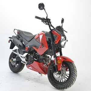 BD125-15 boom motorcycle Honda grom clone front view red