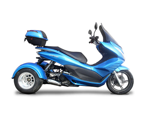 2020 IceBear Q6 Mojo Magic 50cc Moped Trike - PST50-17