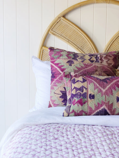 Lilac Mermaid Kantha Quilt (QUEEN/KING)