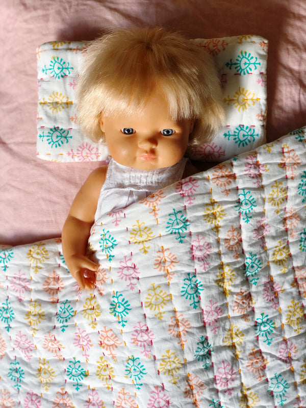 Extra Mini Dolly + Teddy Set - Holi 'Sari'