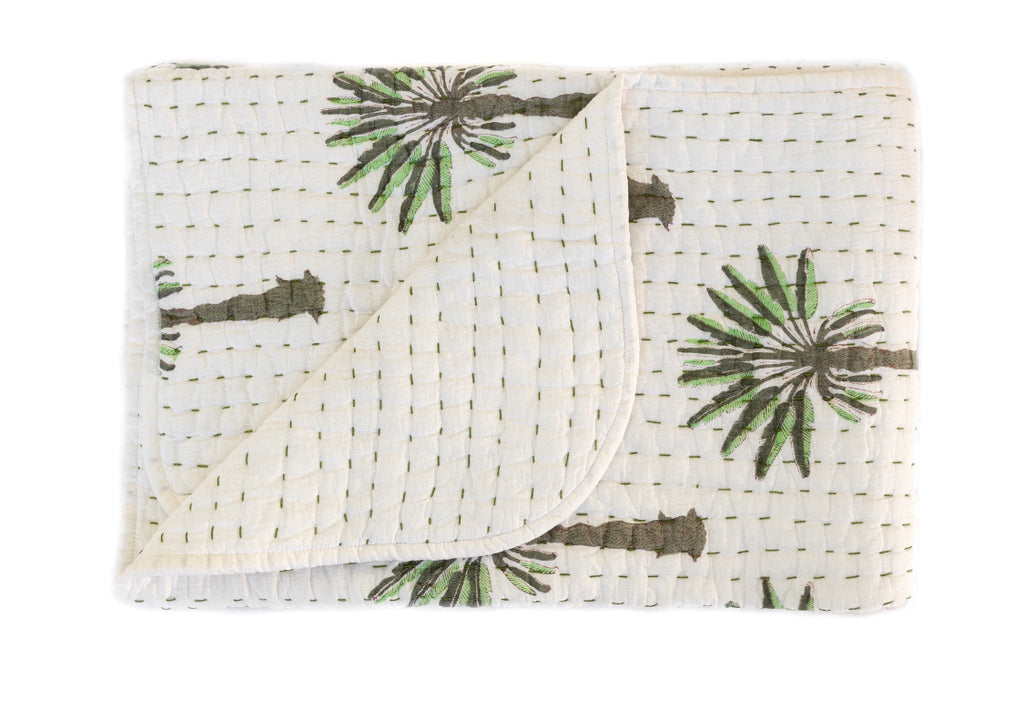 (SECONDS) Mini Kantha- Boho Palm
