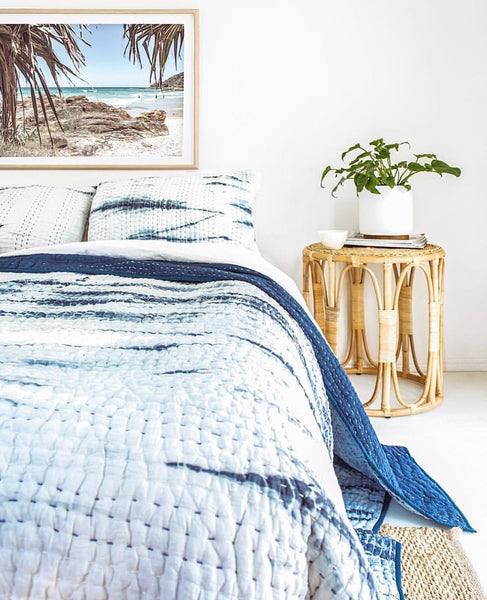 Ocean Vibes Kantha Quilt (SINGLE-DOUBLE)