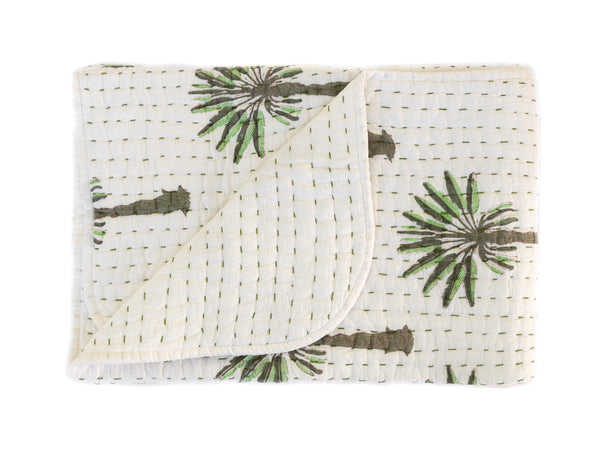 Mini Kantha- Boho Palm
