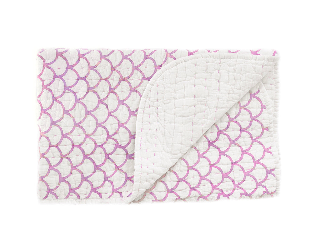 (SECONDS) Mini Kantha- Lilac Mermaid