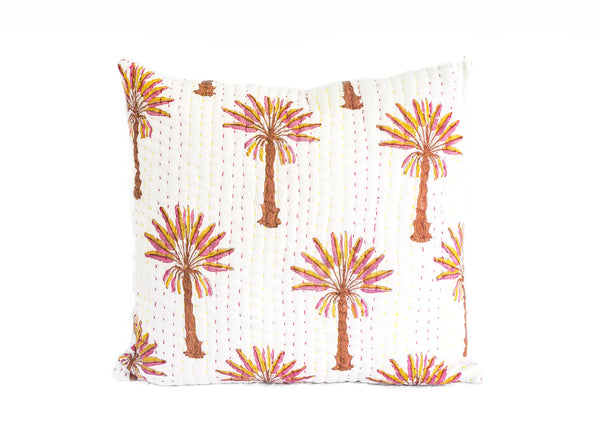 Peachy Palm Kantha Euro Cover (Re-Stock late Feb))