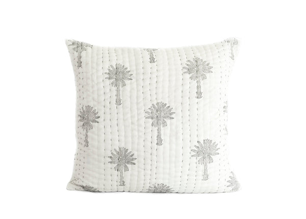 Sabal Palm Kantha Euro Cover