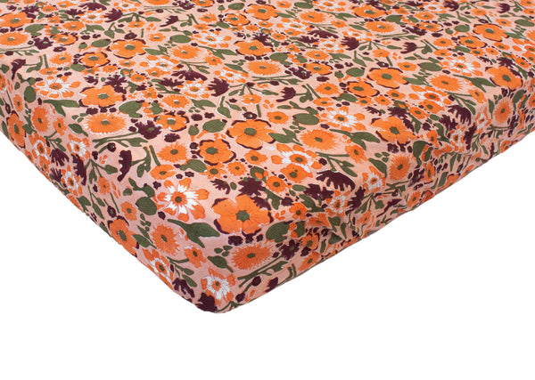 Fitted Sheet- Sunset Poppy