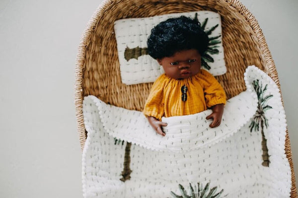 Extra Mini Dolly + Teddy Set - Boho Palm