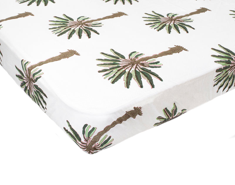 Fitted Sheet- Boho Palm
