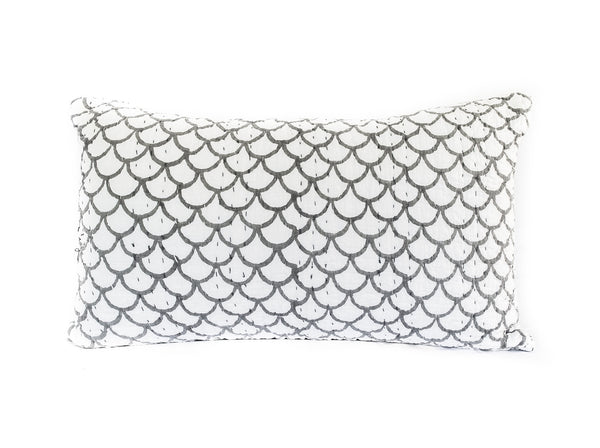 (SECONDS) Mermaid Kantha Pillow Cover