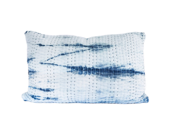 Ocean Vibes Kantha Pillow Cover