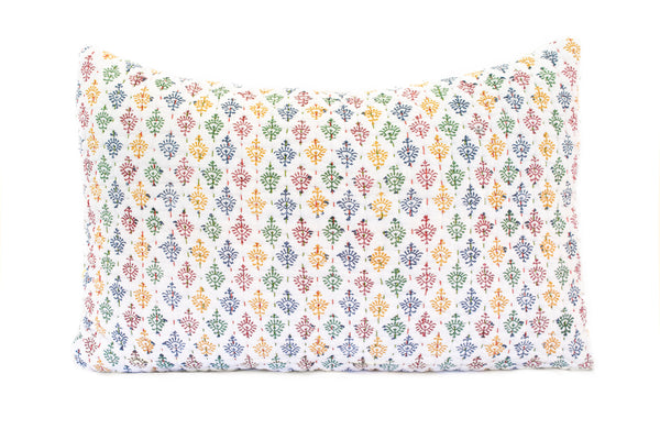 Holi 'Raj' Kantha Pillow Cover