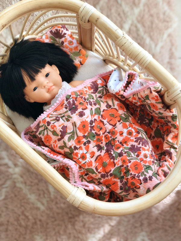 Extra Mini Dolly + Teddy Set - Sunset Poppy