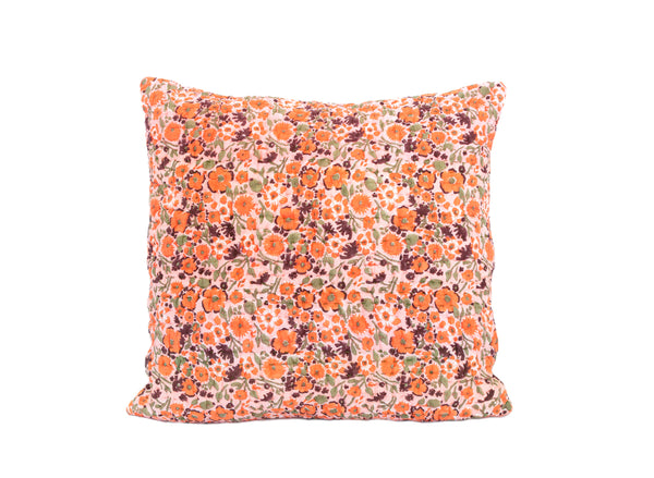 Sunset Poppy Kantha Euro Cover