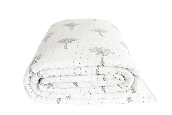 Sabal Palm Kantha Quilt (SINGLE-DOUBLE)
