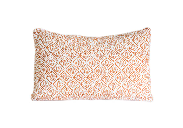 Rust Devī Kantha Pillow Cover