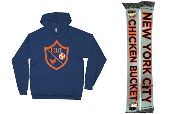 CBFC Crest Pullover Hoodie and CBFC Scarf Bundle