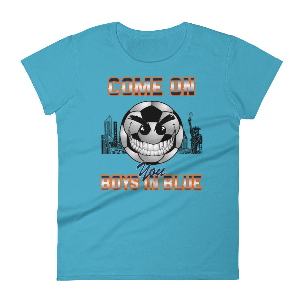 Come On, You Boys In Blue Tee - Women's